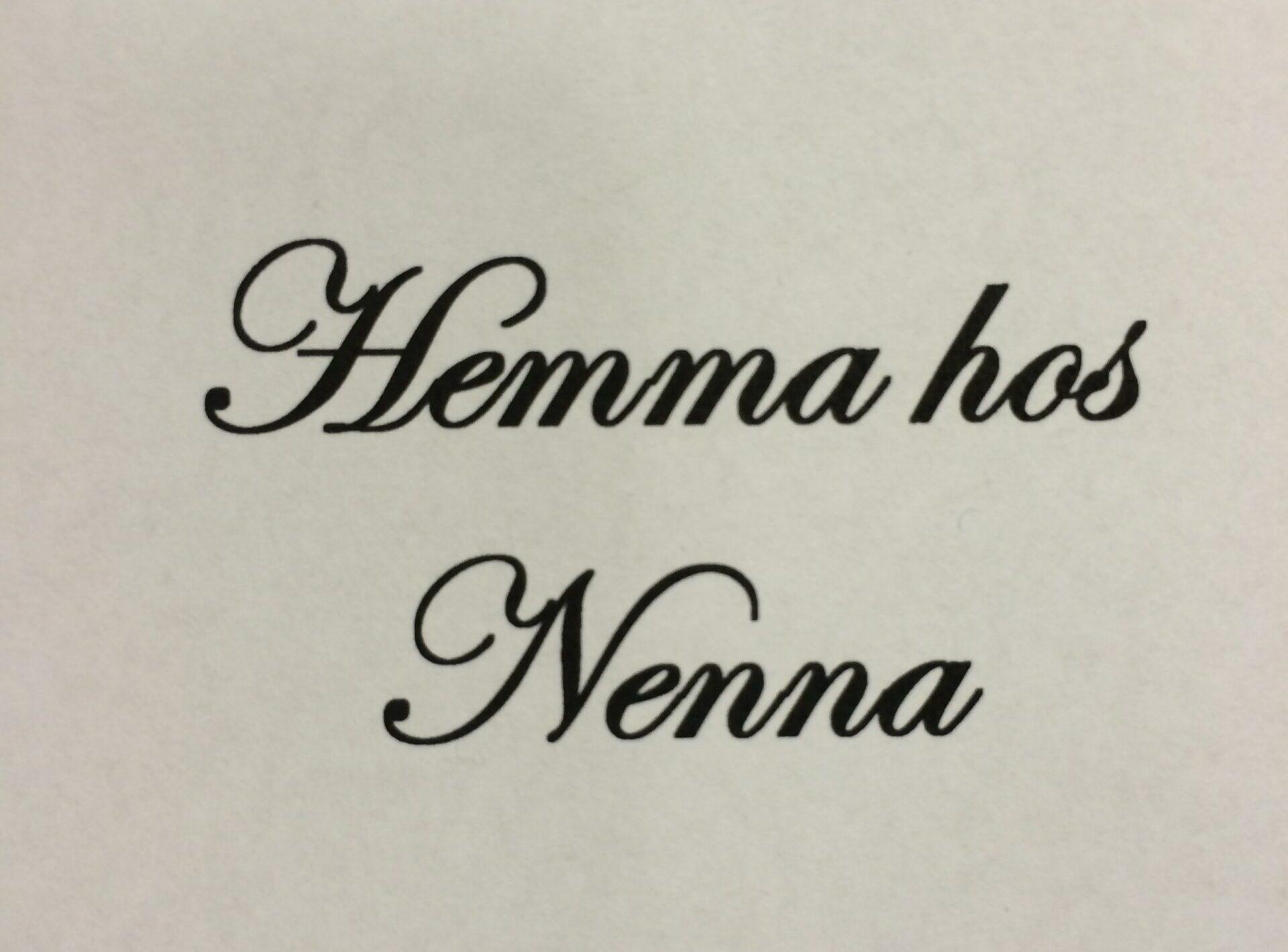 Hemma hos Nenna